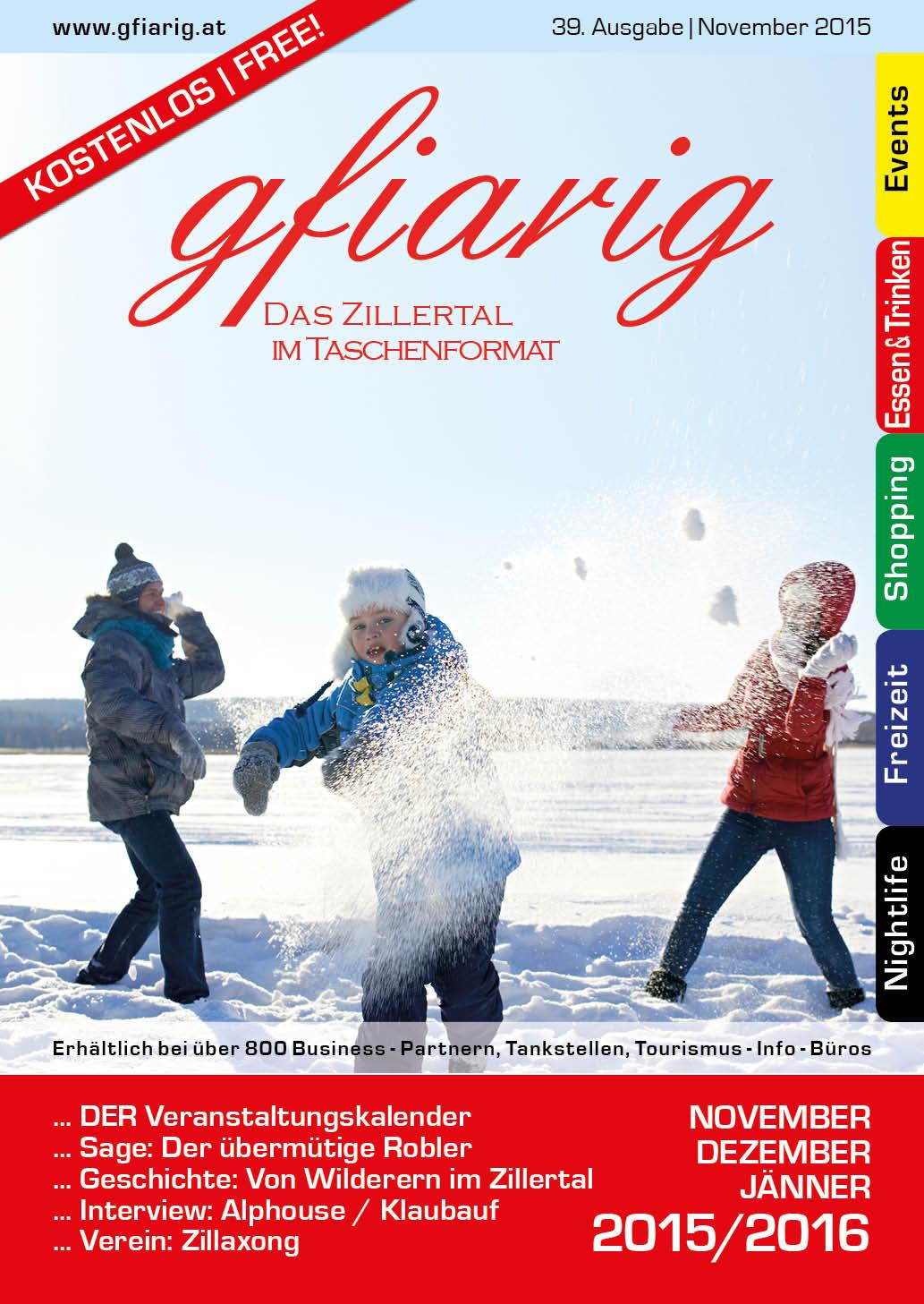Gfiarig - 39.Ausgabe - November 2015